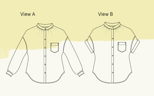 Sille blouse view A and B