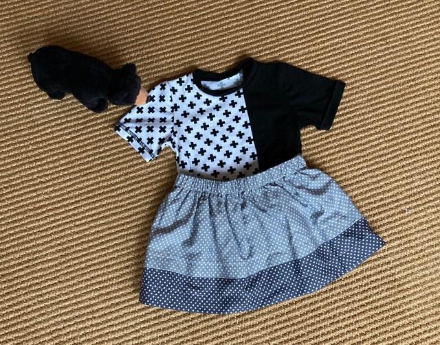zelfgemaakt monochrome babykleding setje