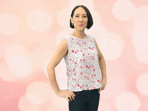 Camellia Top in Floral