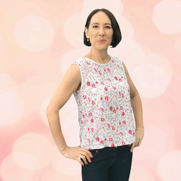 Camellia Top in Floral - Sewing Avenue, Sewing Blog - Image -