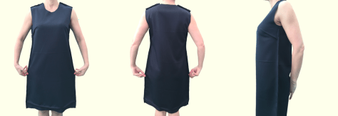Sleeveless Shift Dress - Construction