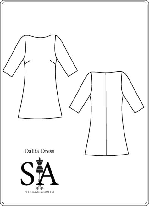 Dallia Dress Pattern - Fashion Flat