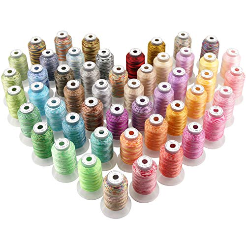 New Brothread 50 Colors Variegated Polyester Embroidery Machine Thread
