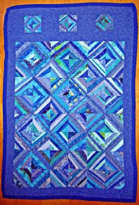 Here is an easy scrap quilt idea that is great fun to make.