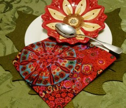 Beautiful 8 x 8 inch napkins ready for your next meal or party.