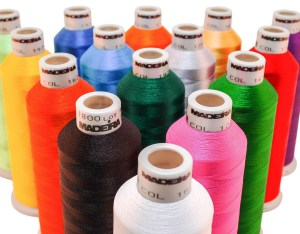 "Stronger than rayon thread, polyester thread is a great ""all-purpose"" choice that can be used for most sewing projects, both hand- & machine-sewn."