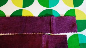 If you need to attach extra fabric to the side panels, consider adding it to the ends in small amounts.