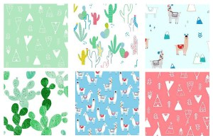 If you are looking for something with a little more 'prickly' whimsy, check out No Drama Llama by Dear Stella House Designer.