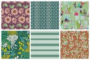 Lastly you have Bonnie Christine & Art Gallery Fabric's Succulence line.