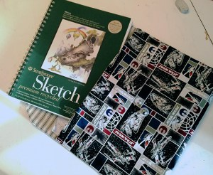 One last project applies to anyone in need of carrying around documents & such — whether that something to carry is the sketch pad shown or a stack of papers that you, as a teacher, graded!