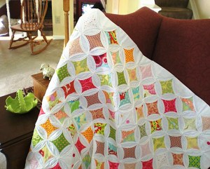 The type of quilt I'm referring to is a cathedral window quilt.