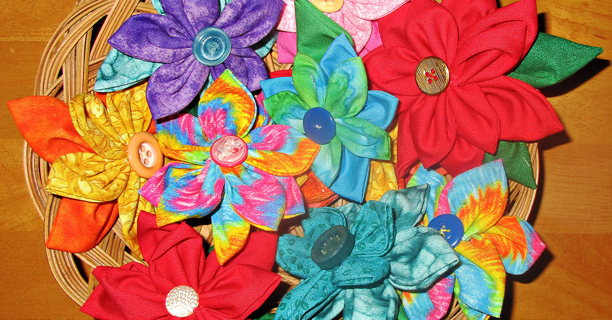 Sew Easy Fabric Flower Pins for Bags, Hats, Hair, Gifts and More