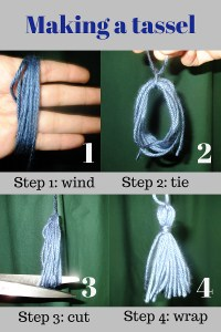 How to tie a tassel.
