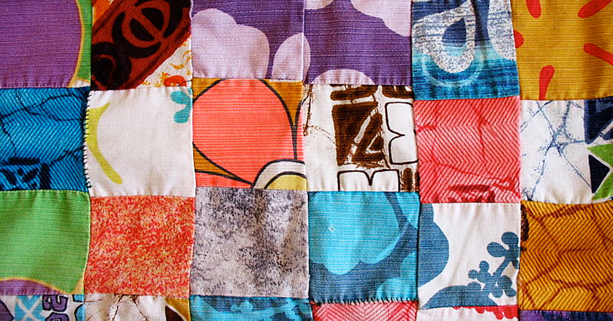 Strip Piecing for a Postage Stamp Quilt