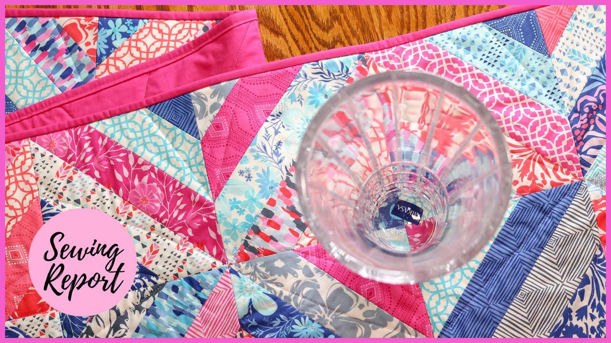 Making a Quilted Table Runner Using Strip + Tube Piecing | Beginner-Friendly Project