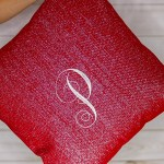 Easy DIY | Monogrammed Pillow Cover Envelope Closure Out of Target Tablecloth