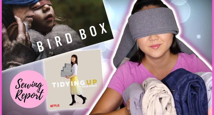 Bird Box Challenge Meets Tidying Up Marie Kondo Style