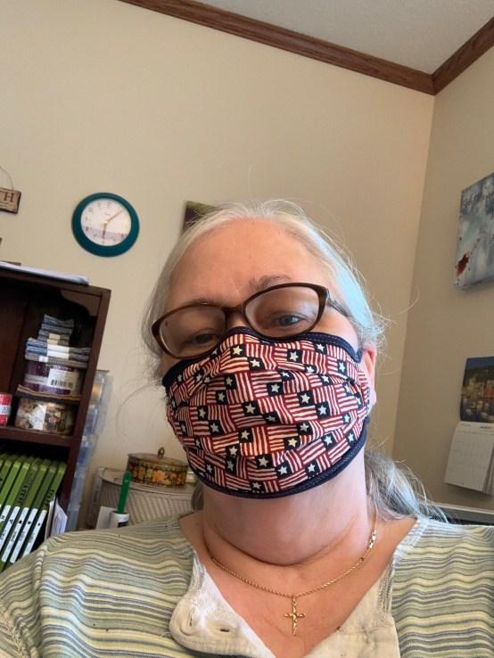 Finished fabric mask