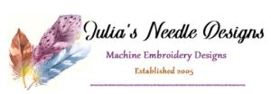 Free Machine Embroidery Julia's Needle Design