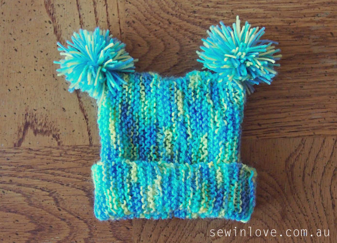 Simple To Knit Baby Hats