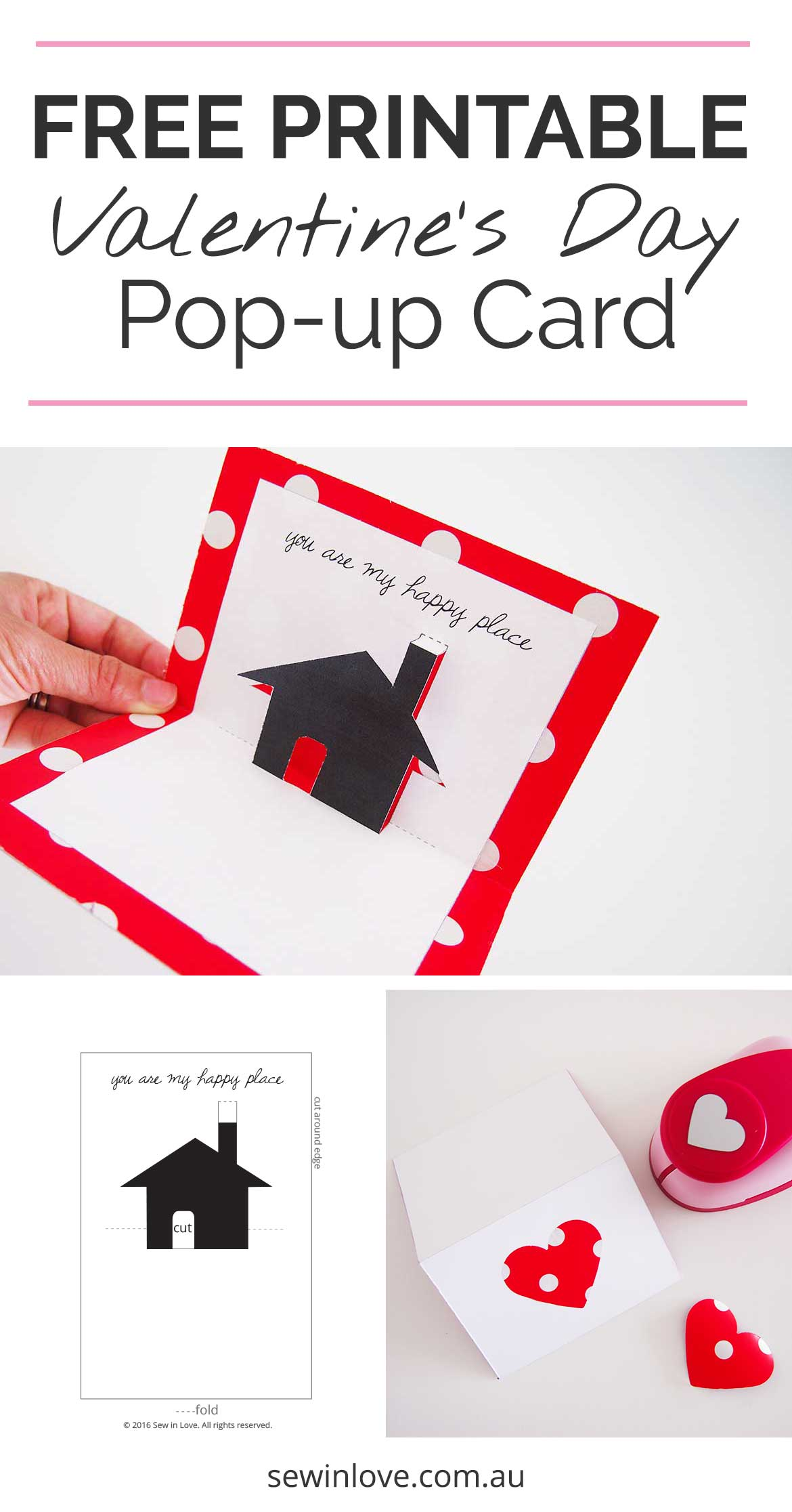 Free Valentines Day Printable Card Cute Pop Up