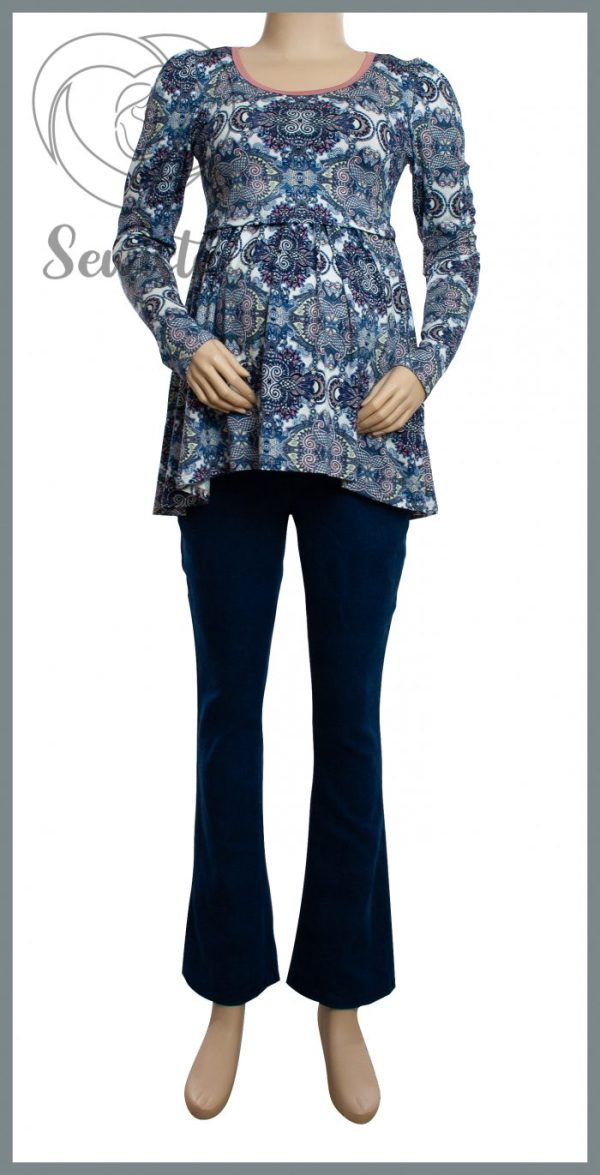 Melody Maternity & Breastfeeding Shirt with Ruth Maternity Jeans