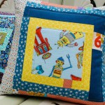 sewkatiedid/Improv Log Cabin Pillow
