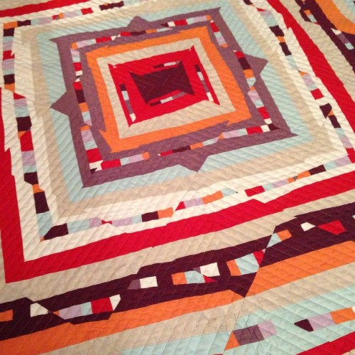 SEW KATIE DID/Psychedelic Baby Quilt