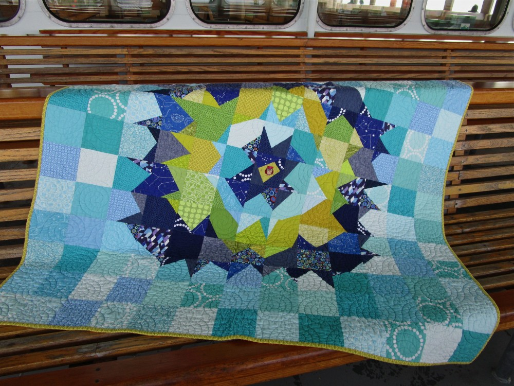 SEW KATIE DID:Night Owl Quilt Full Front