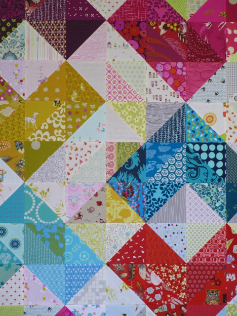 SEW KATIE DID:Warm and Cool Value Quilt Tutorial Hearts:row