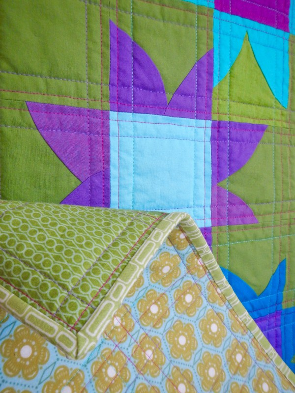 SEW KATIE DID | Improv Patchwork Curves Workshops | Nine-Patch Flowers back