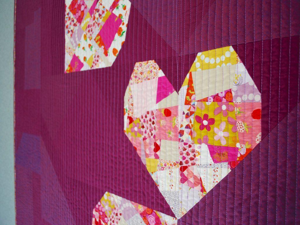 SEW KATIE DID | BIG Tossed Hearts Quilt