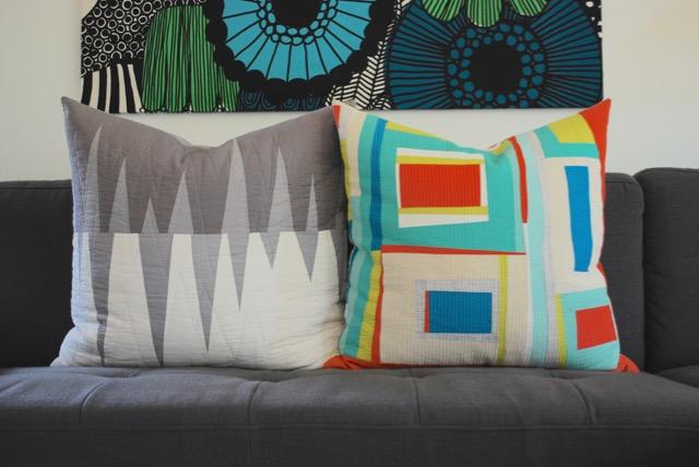 SEW KATIE DID | Improvisational Patchwork Pillows