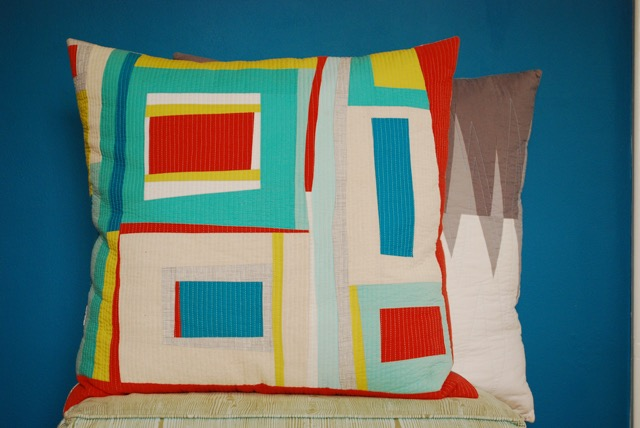 SEW KATIE DID | Improv Log Cabin Pillow