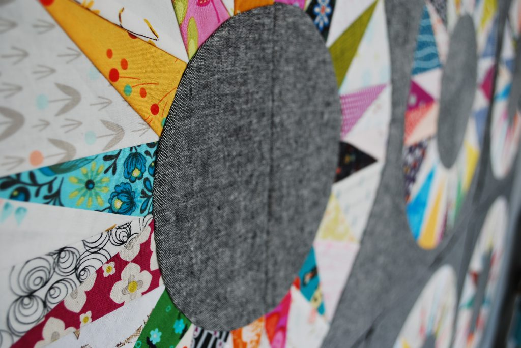 sew katie did | scrappy ny beauty paper pieced block
