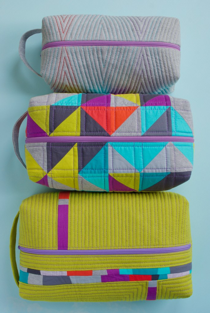 Sew Katie Did   Seattle Modern Quilting and Sewing Studio   Patchwork Box Pouches