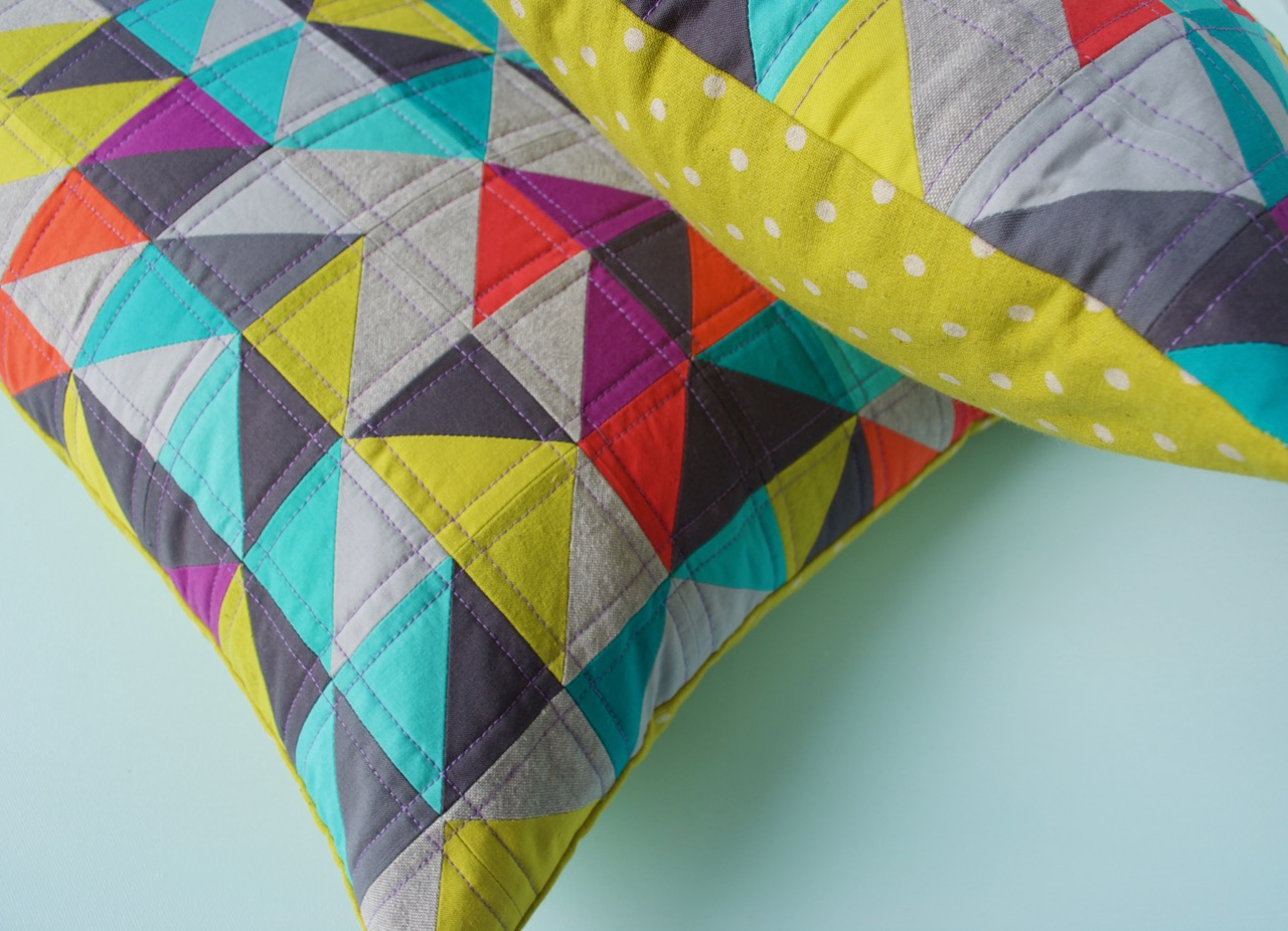 sew katie did | Seattle Modern Quilting and Sewing Studio | hst LOVE pillows