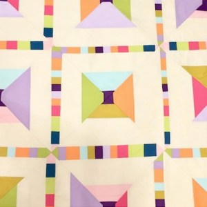 @lysaflower psychedelic baby quilt via sew katie did workshop