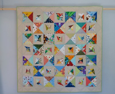 On Point Scrappy Double-Trouble Quilt