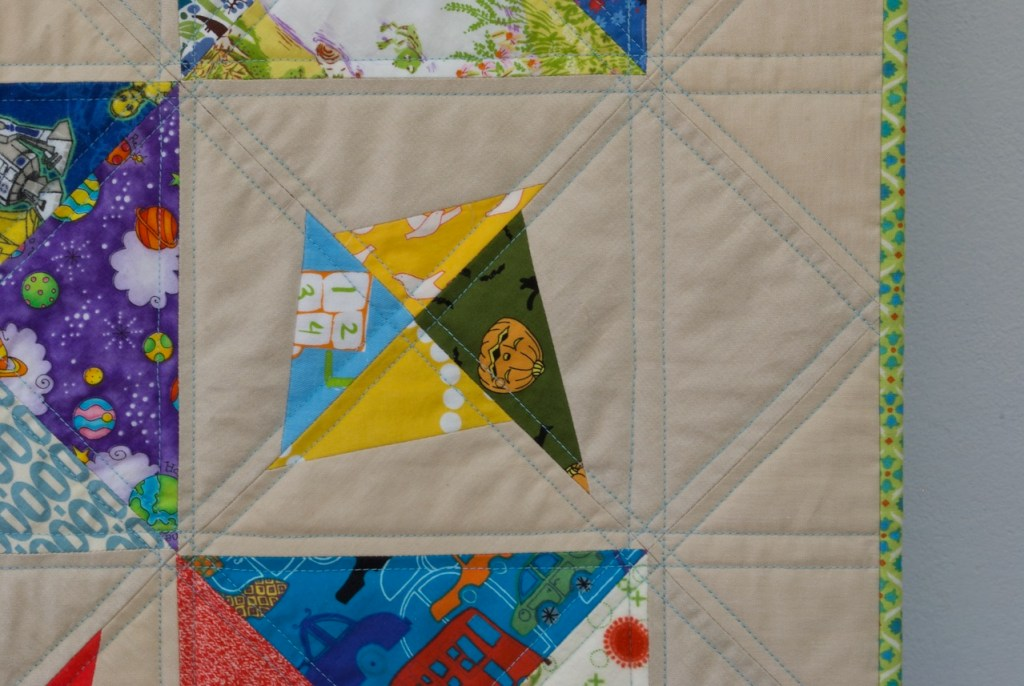 sew katie did | Seattle Modern Quilting Studio | On Point Double-Trouble Quilt