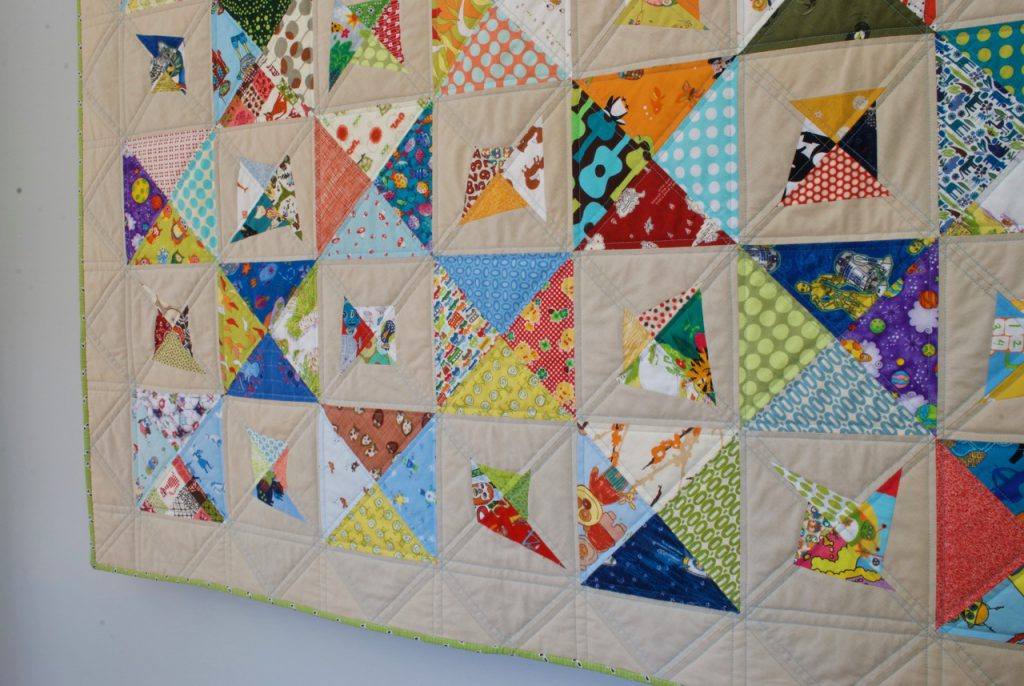 sew katie did   Seattle Modern Quilting Studio   On Point Scrappy Double-Trouble Quilt