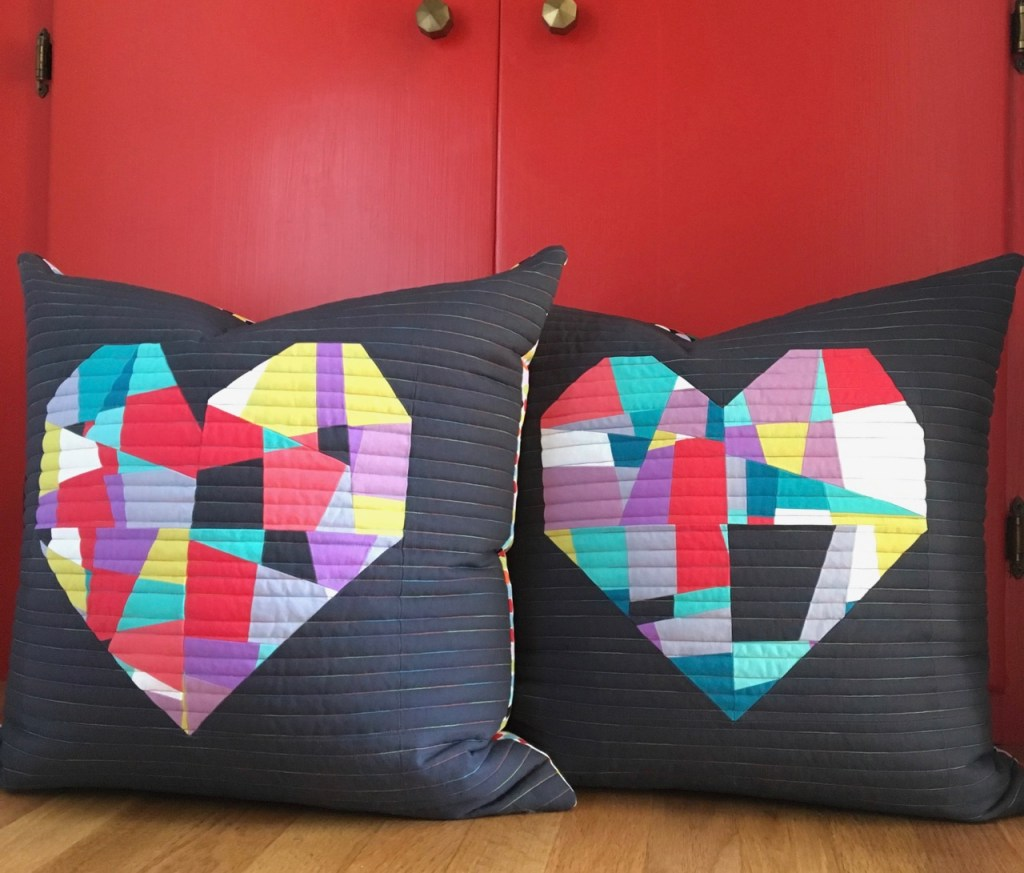 Sew Katie Did | Seattle Modern Quilting & Sewing Studio | Split Personality Quilt Block | Fractured Heart Pillows