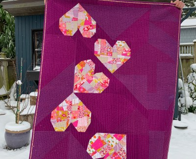 BIG Tossed Hearts Quilt