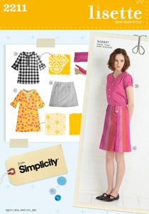 market dress, tunic, skirt & blouse sewing pattern