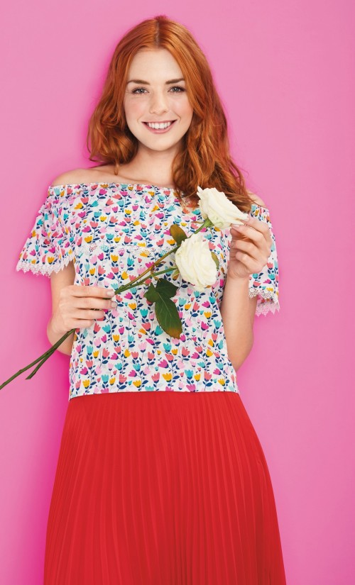 Bardot Top Free Sewing Patterns Sew Magazine