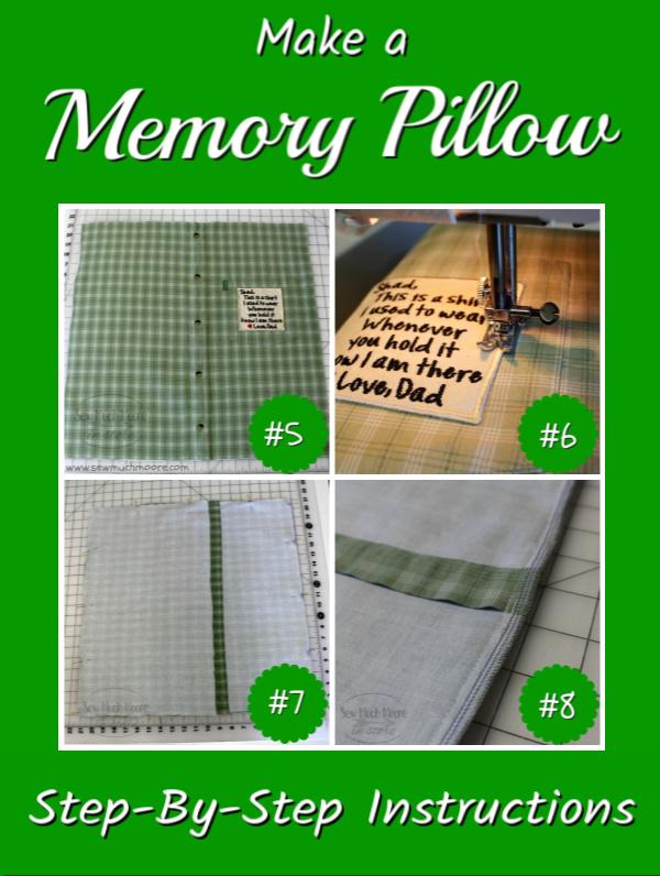 make a memory pillow from a men s shirt