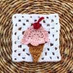 Ice Cream Cone Granny Square: Bake Shop Blanket
