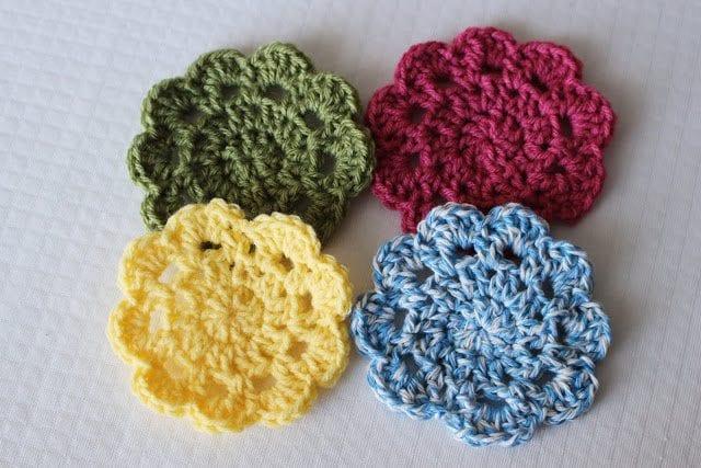 Easy Crochet Coasters Great For Beginners Sewrella