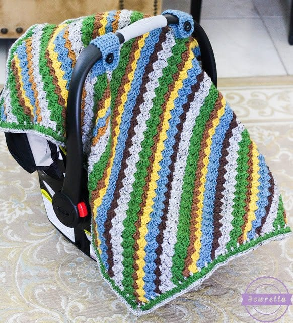 Sequoia Crochet Car Seat Canopy Sewrella