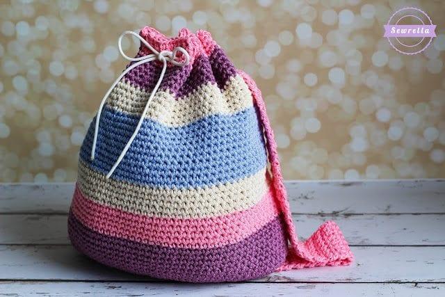Aubries Crochet Big Kid Backpack Back To School Series Sewrella
